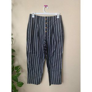 Who What Wear 12 Trousers Pants Black White High
